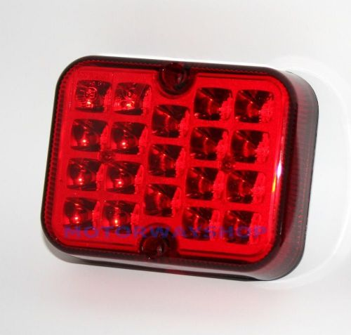 Car Van Truck Red LED Rear Fog Light Unit Auxiliary Lamp Bright Ring RCT495